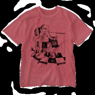 izumi_salonのカフェテリア Washed T-shirts