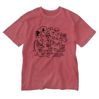 ふじみ屋 fujimi-ya のリズム&坊主 Washed T-shirts