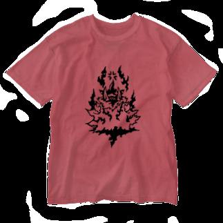 カリツォーの亥羅々 Washed T-shirts