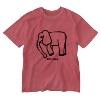 Creative store Mのsurreal_06(BK) Washed T-Shirt