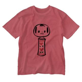 めんこいこけし/一本 Washed T-shirts