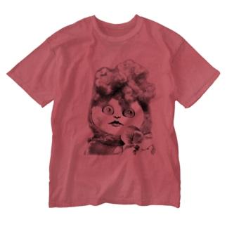 リーゼン妖子Tシャツ〜白黒バージョン〜 Washed T-shirts