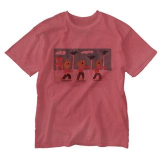 桜の修行 Washed T-shirts