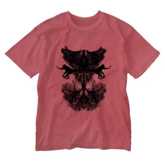 悪魔 Washed T-shirts