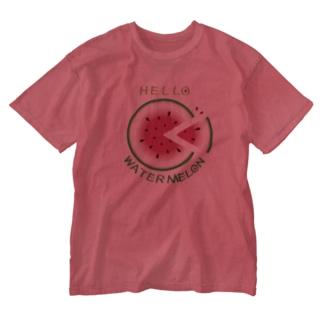 *suzuriDeMONYAAT*のCT36!スイカの輪切り Washed T-shirts