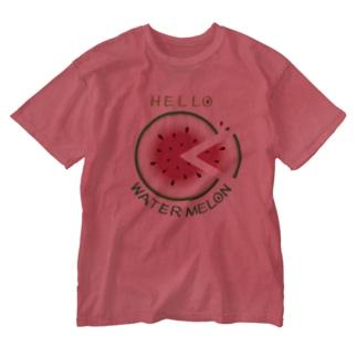 CT36!スイカの輪切り Washed T-shirts