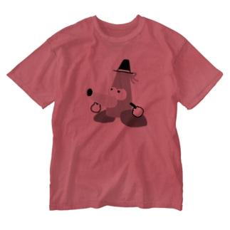 もぐら2段くん ウォッシュ Washed T-shirts