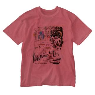 ドローイング Washed T-shirts