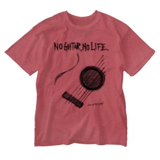 No Guitar, No Life Washed T-shirts