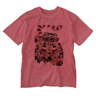 ねぼけとら Washed T-shirts