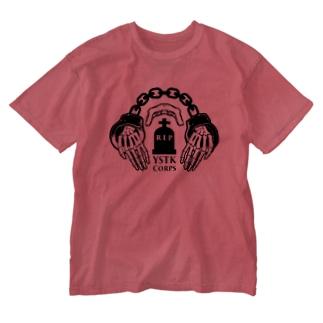 よしたく兵団 2020ver 社畜ロゴ Washed T-shirts