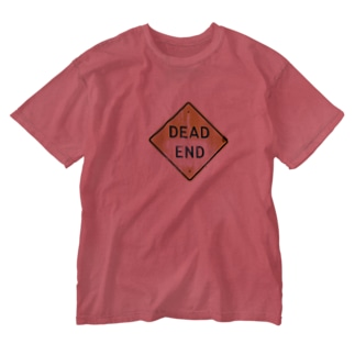 dead end サイン Washed T-shirts