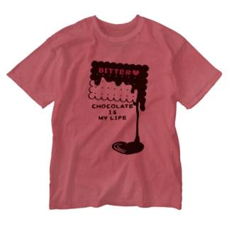 カスタマイズOK >CT99 CHOCOKATE IS MY LIFE*D Washed T-shirts