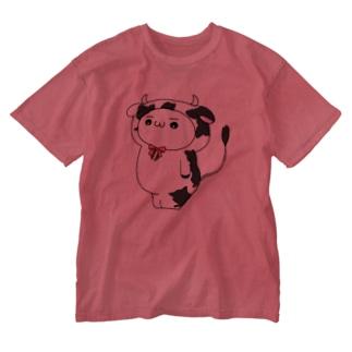 小みる (カラー) Washed T-shirts