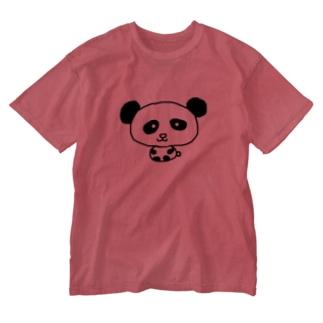 🐼パンダ Washed T-shirts