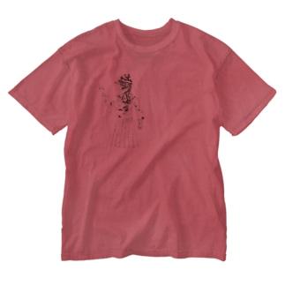 制服ガール Washed T-shirts
