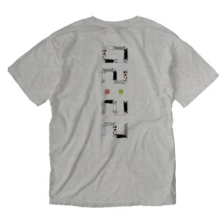 ベタですみません。縦 Washed T-shirts