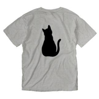 れいなのお店の後ろ姿ねこちゃん Washed T-Shirt