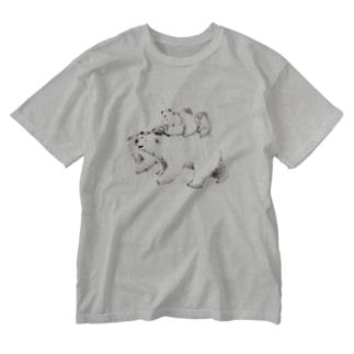 ずんぐり〜ずの旅 -出発- Washed T-shirts