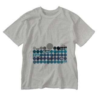 水玉シリーズ18 Washed T-shirts