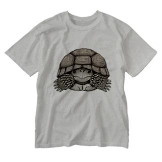 りくがめくん Washed T-shirts