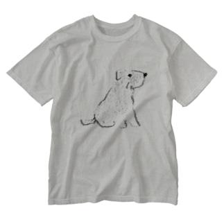 あっちを向いたシュナ Washed T-shirts