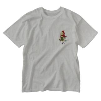ROBOBO オカメインコ 「ポポロボ」 Washed T-shirts