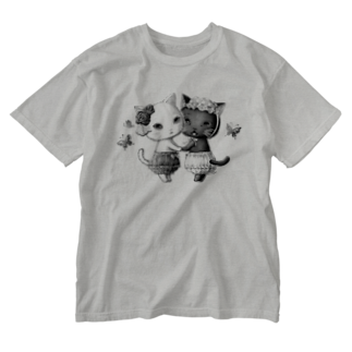 ねこぱんつのねこどろわーず Washed T-shirts