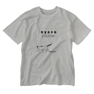 taking a walk with nyaco 4 Washed T-shirts