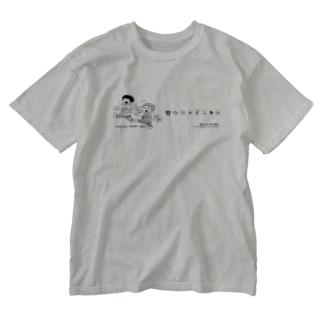 おやつ買いに行こ Washed T-shirts