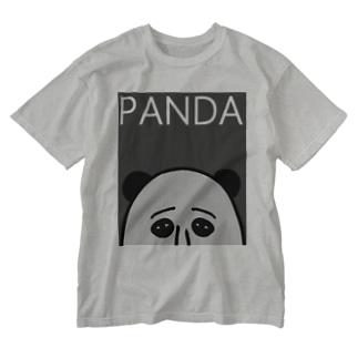 PANDA(グレイ) Washed T-shirts