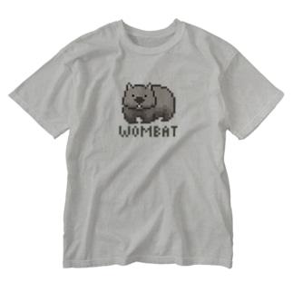 ピクセルウォンバット Washed T-shirts