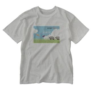 ウォンバットのはらぺこアドベンチャー Washed T-shirts