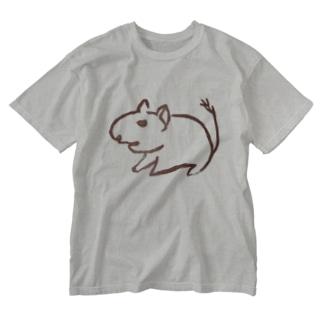 ヤンキーコムタンはんこセリフ無し Washed T-shirts