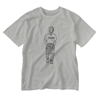 mosh.の歩く男 Washed T-shirts
