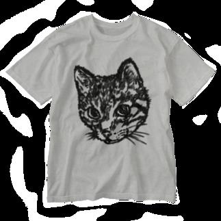sawallowのShimajiro The Cat Washed T-shirts