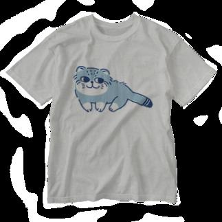 このえのマヌルネコ Washed T-shirts
