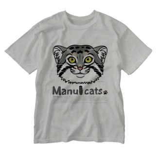manul*マヌルネコ Washed T-shirts