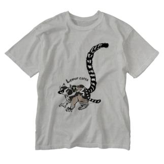 Lemur catta*ワオキツネザルTシャツ Washed T-shirts