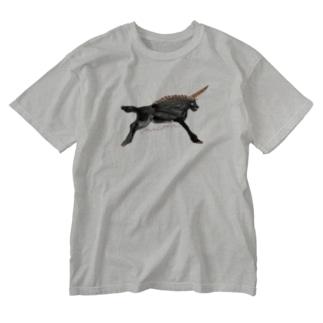 black unicorn Washed T-shirts