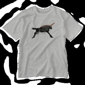 TateYamaKanaKo のblack unicorn Washed T-shirts