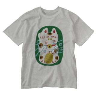 まねきねこ Washed T-shirts
