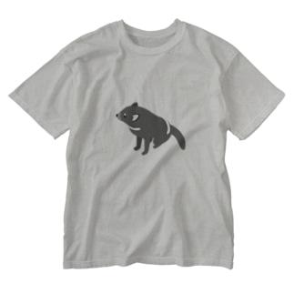 マネクラ/タスマニアンデビル(おすわり) Washed T-shirts