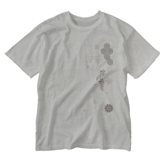 枝垂れ桜 Washed T-shirts
