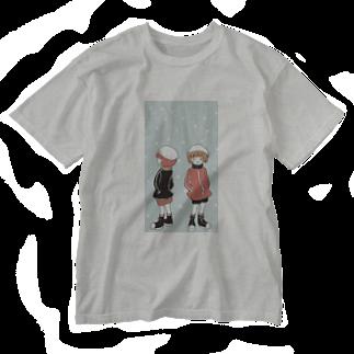 木ノ下商店の冬ジャージ双子 Washed T-shirts