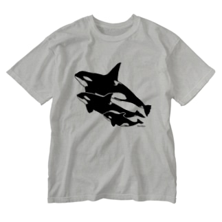 Orca*シャチTシャツ Washed T-shirts