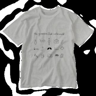 atelier_ninononの父の日に贈る最高の父ちゃん Washed T-shirts