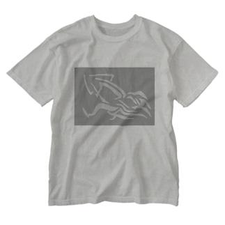 イカさんver.2 Washed T-shirts