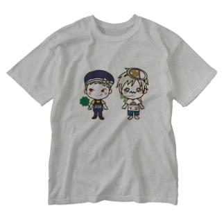 名前さんJOEさん Washed T-shirts