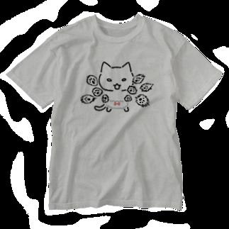 ねこぱんつのオラオラオラオラ Washed T-shirts